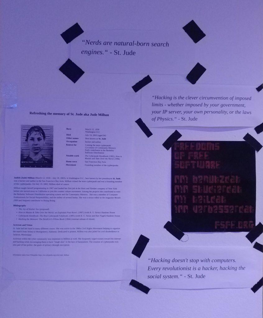 Memorial Jude Milhon mit Zitaten